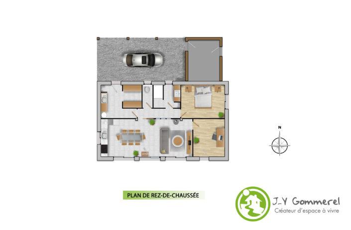 JY Gommerel maître d'oeuvre-AZÉ 53200-Maison individuelle